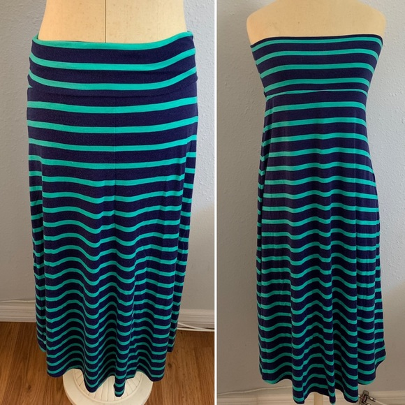 Mossimo Supply Co. Dresses & Skirts - Mossimo Maxi Skirt (or dress!) Green Navy